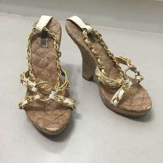 (保留)LB-03 日本專櫃品牌金鍊楔型鞋