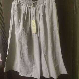 Queen Shop 腰鬆緊洗水棉褲裙