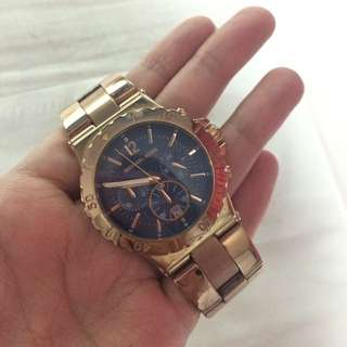 RESERVED!! Michael Kors Chronograph Rose Gold Watch