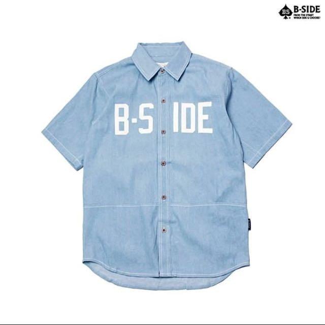 9成新/B-SIDE水藍牛仔襯衫👕