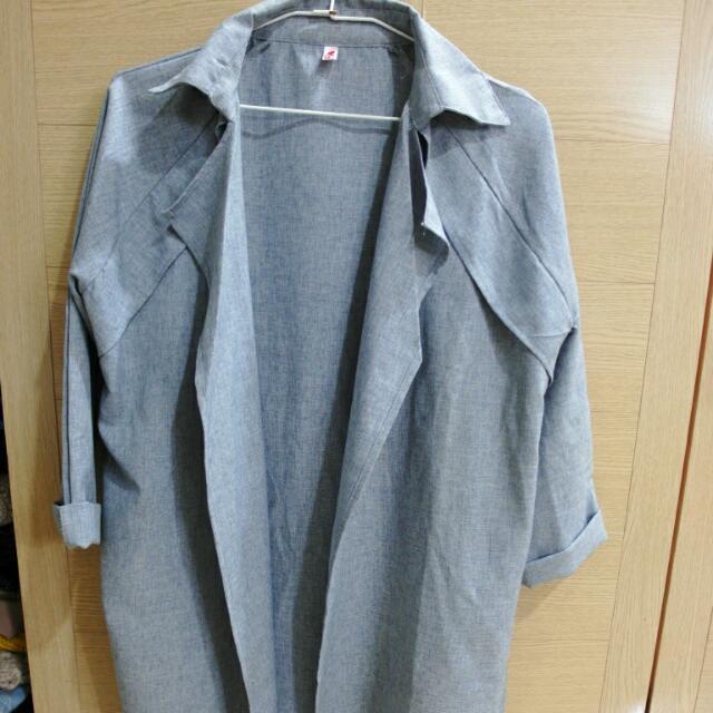 開襟薄長外套