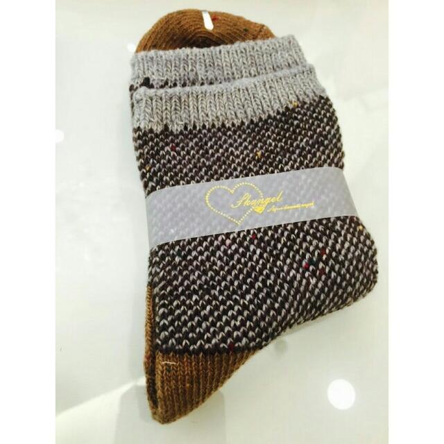 全新✨秋冬針織保暖好穿搭襪子