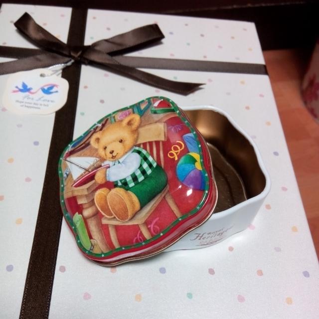 可愛泰迪熊 小鐵盒