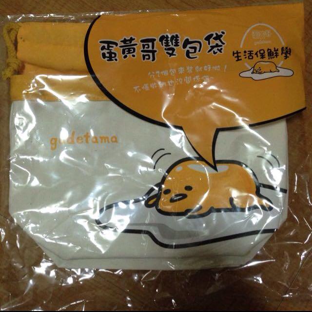 蛋黃哥 雙包袋 束口袋 托特包