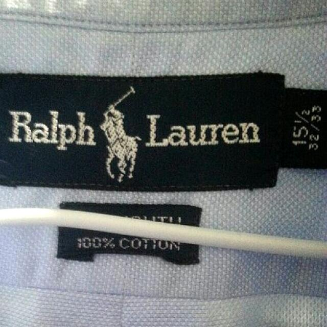 二手 襯衫 男裝 長袖 Ralph Lauren 水藍色 SS號 品牌 名牌