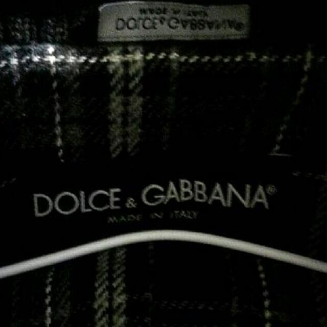 外套 男裝 長袖 DOLCE GABBAMA 深藍色 品牌 名牌