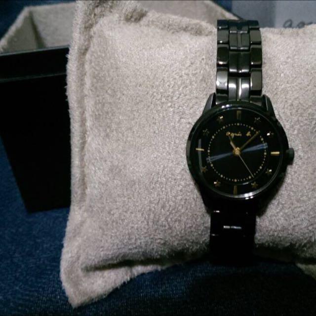 agnes b 五角星女用錶