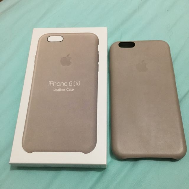 sale retailer b5b59 4c3fc Apple iPhone 6s Leather Case Rose Gray