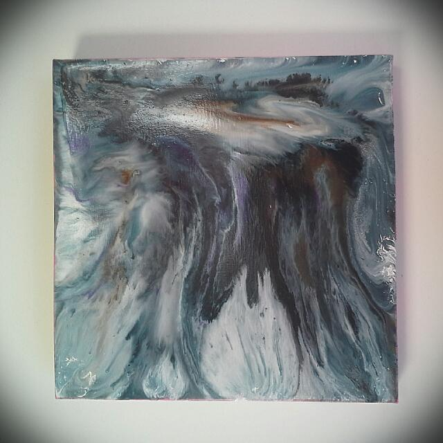 Coloured Marble Painting