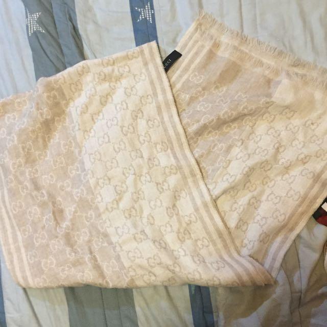 Gucci 雙色經典羊毛圍巾