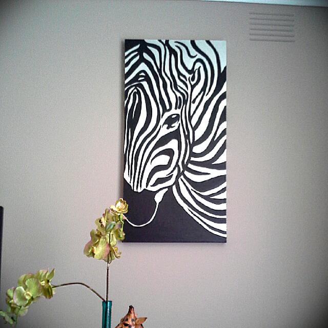 Hand Painted Zebra