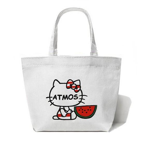 含運/HELLO KITTYxATOMS 日雜聯名 帆布手提袋 購物袋 便當袋