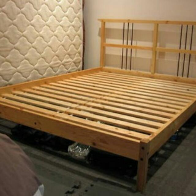 Ikea Dalselv Queen Sized Bed Frame and Mattress