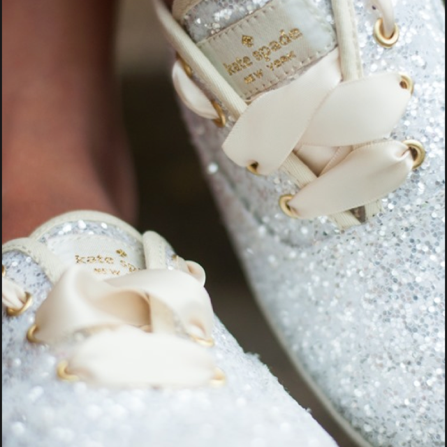 be03df89b Keds x Kate spade Glitter wedding series sneakers! Available in USA ...
