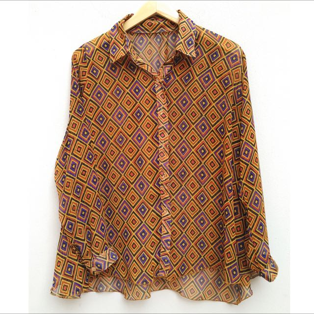 Tribal Pattern Long Sleeve Shirt
