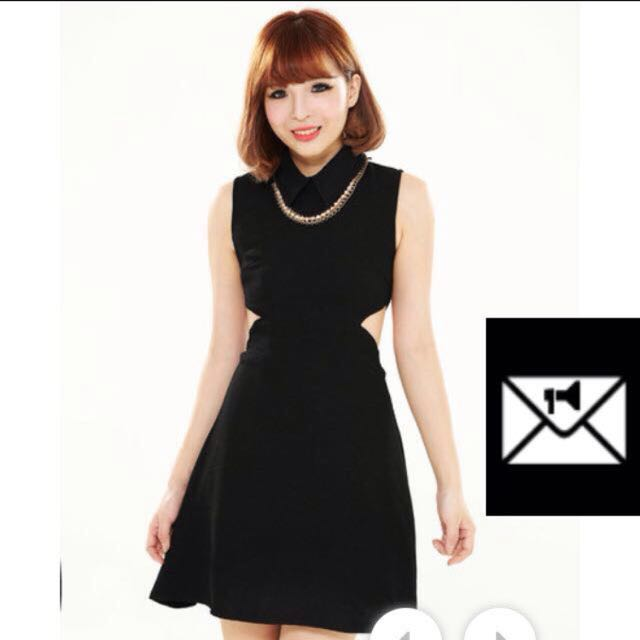 Cutout Dress With Collar (Twenty3)