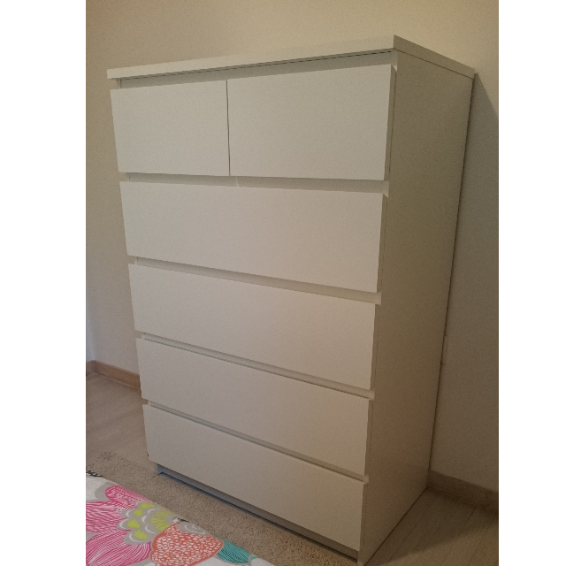 wardrobe ikea malm chest 6 drw furniture on carousell. Black Bedroom Furniture Sets. Home Design Ideas