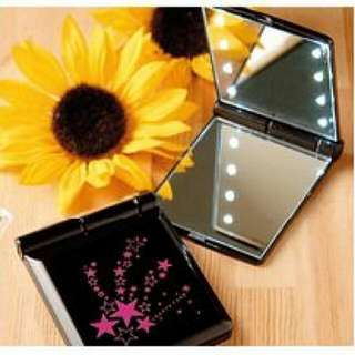 【降價】 【全新】 lawrys farm 粉紅星星LED巧妝鏡子