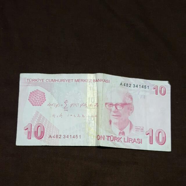 10 Turkish Lira