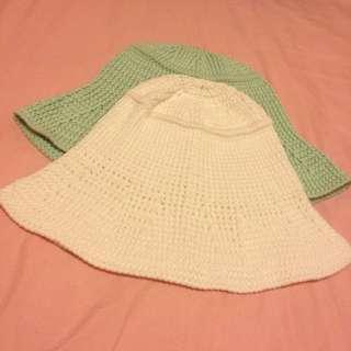 白色針織漁夫帽(已保留)