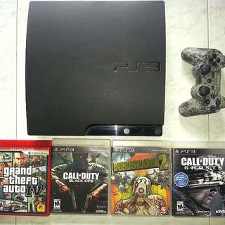 PS3 Slim 160GB With Games!