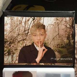 wts rap monster itmfl pt. 1 taiwan postcard