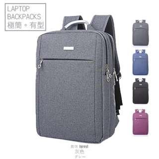 🚚 極簡電腦包 後背包 筆電包 商務包-灰色