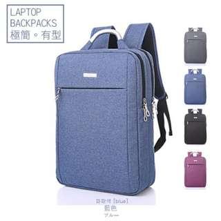 🚚 極簡電腦包 後背包 筆電包 商務包-藍色