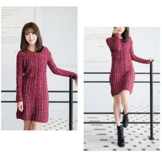 ✨全新✨酒紅針織毛衣