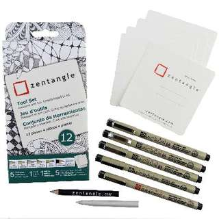 [ PRE-ORDER ] Official Zentangle+Sakura Supplies - White 12 piece kit