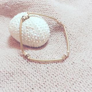 【Aube】 簡約彎管齒輪 - 手作天然石黃銅手鍊