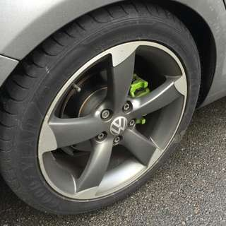 Audi RS 17' Rims With Tires