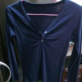 排釦上衣 深藍色