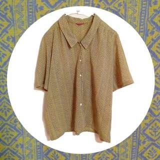 ️⁉️降價🌝古著襯衫/米黃