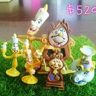 迪士尼美女與野獸茶堡太太阿齊時鐘蠟燭
