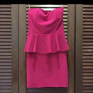 Pink Peplum Dress