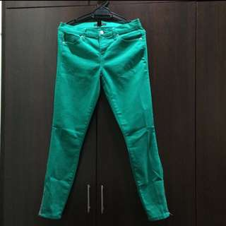 Forever 21 Green Ankle Cut Pants