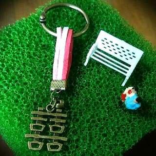 💕復古 鑰匙圈 吊飾💕
