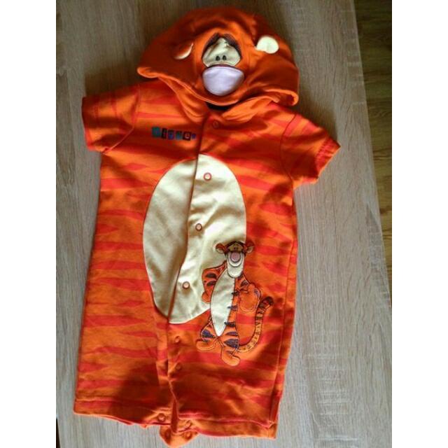 3-6個月 跳跳虎 Disney 包屁衣 短袖 短褲 嬰兒服 寶寶 變裝服 萬聖節