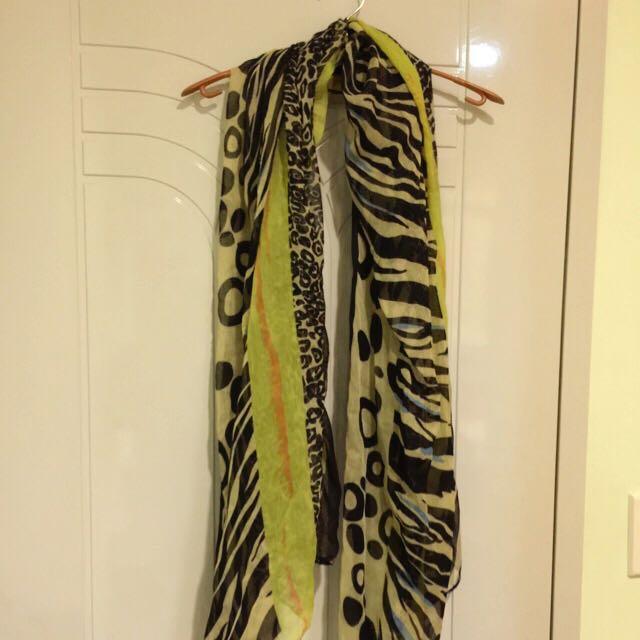 動物紋拼接圍巾