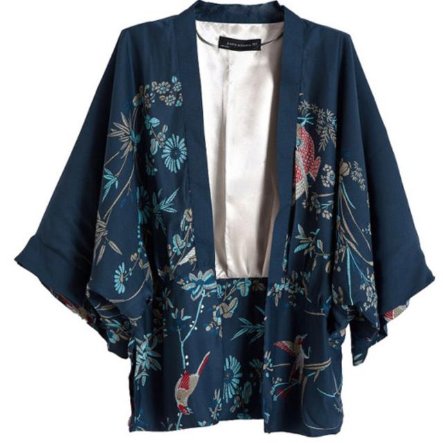 日本 經典復古寬袖和服罩衫