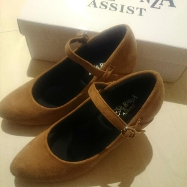全新轉賣 日本購入 日本製 8公分高跟經典咖啡瑪莉珍娃娃鞋