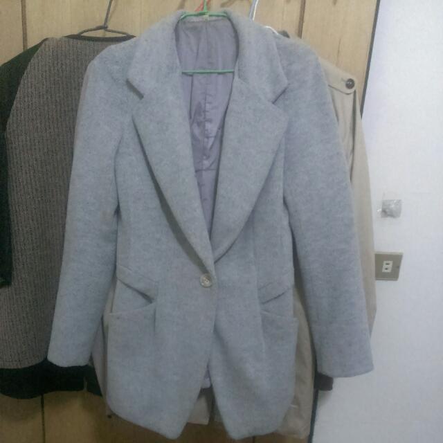 韓製 羊毛西裝外套 大衣