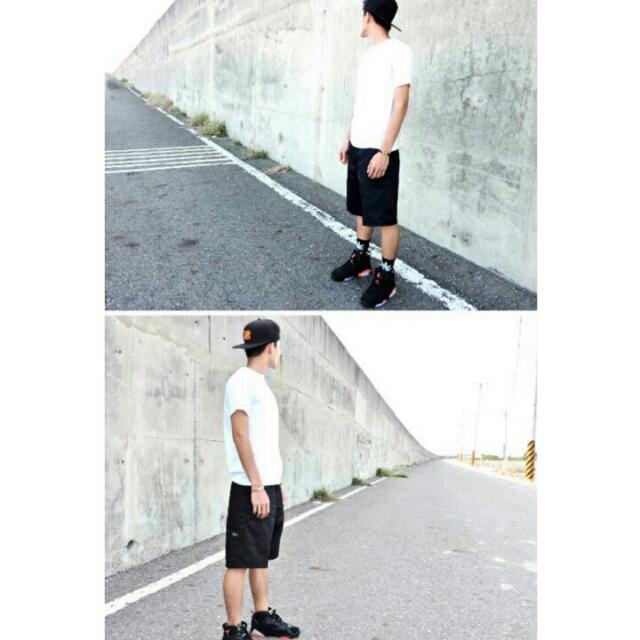 斜紋布 美式 工作 短褲 側手機口袋