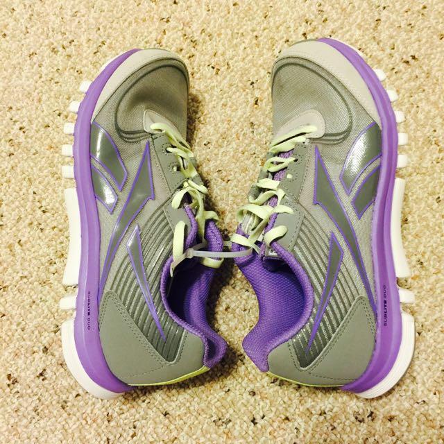 (新品出售) Reebok SUBLITE DUO RUSH 灰紫色慢跑鞋6號