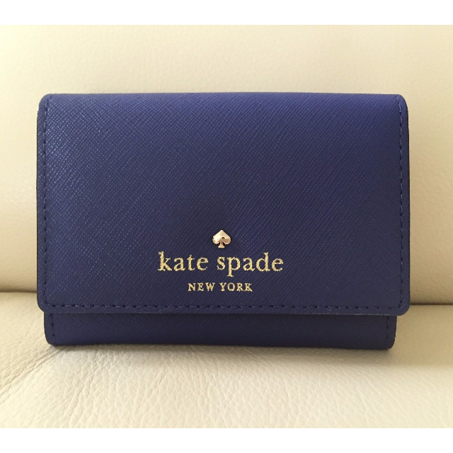 separation shoes 9c87f 39776 Brand New Authentic Kate Spade Leather Mikas Pond Darla Wallet Purse Card  Case (Emperor Blue)