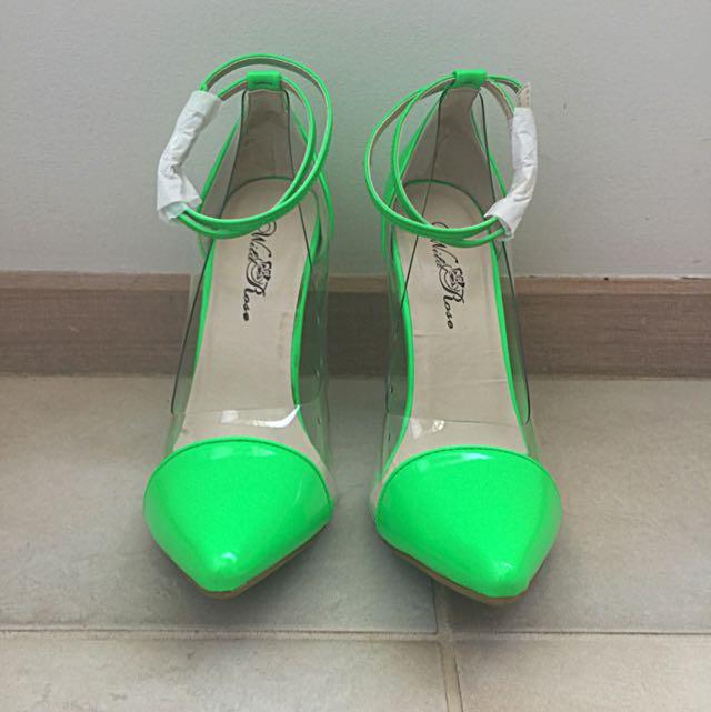 Cap Toe heel Green