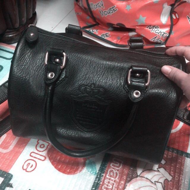 Mink手提.肩背黑色包包