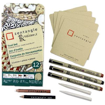 [ PRE-ORDER ] Official Zentangle+Sakura Supplies - Renaissance 12 piece kit