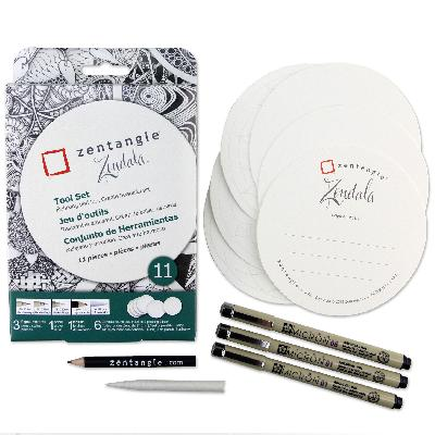 [ PRE-ORDER ] Official Zentangle+Sakura supplies - Zendala 11 piece kit
